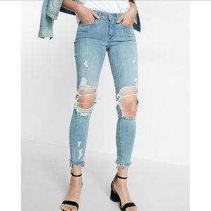 Express Mid-Rise Ankle Jeans